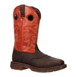 Men's Durango Boot DWDB036 12in Western Workin' Rebel Steel Toe Orange Full Grain Leather