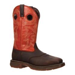 Men's Durango Boot DWDB037 12in Western Workin' Rebel Orange Full Grain Leather