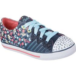 Girls' Skechers Twinkle Toes Chit Chat Dizzy Dayz Navy/Coral