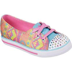 Girls' Skechers Twinkle Toes Chit Chats Coral/Multi-Trim