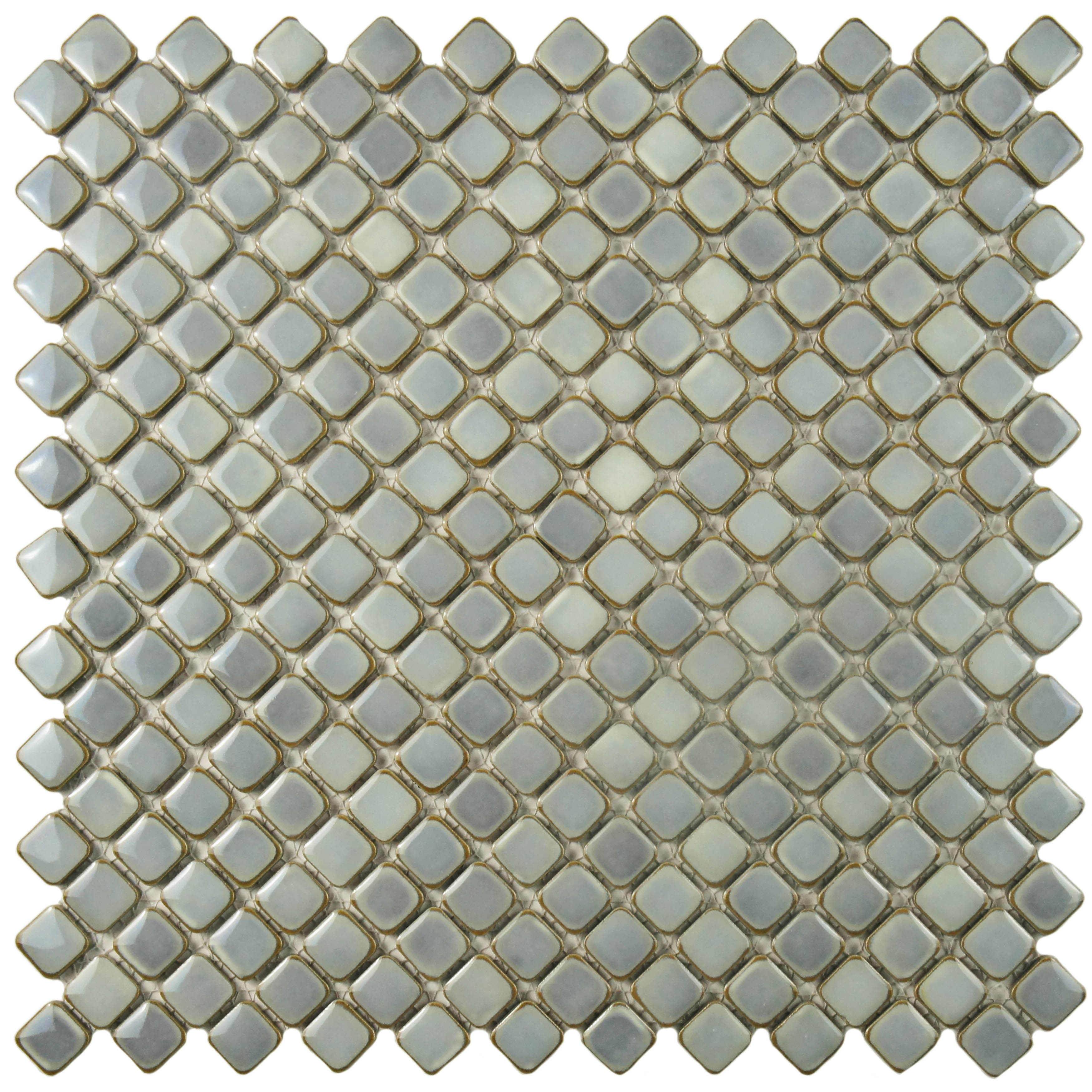 SomerTile 13x13-inch Jewel Grey Eye Porcelain Mosaic Floor and Wall Tile (Case of 10)