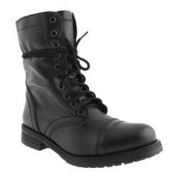 Women's Steve Madden Troopa 2 Black Leather