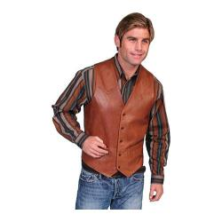Men's Scully Leather Lambskin Button Front Vest 503-60 Brown