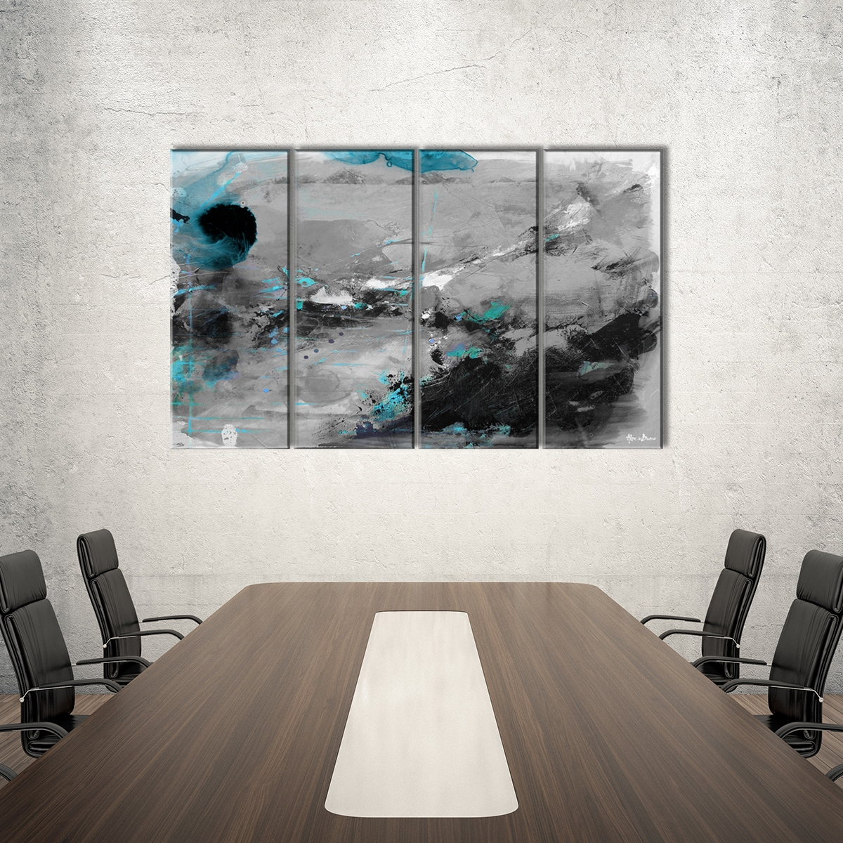 Alexis Bueno 'Inkd VII' 4-piece Canvas Art Set