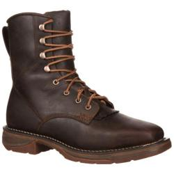 Men's Durango Boot DWDB048 8in Western Waterproof Workin' Rebel Steel Brown Leather