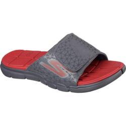 Men's Skechers GObionic S Slide Gray/Red