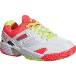 Children's Fila Sentinel White/Diva Pink/Safety Yellow