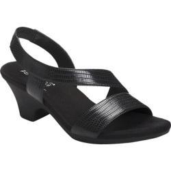 Women's Aerosoles Brasserie Black Snake Faux Leather