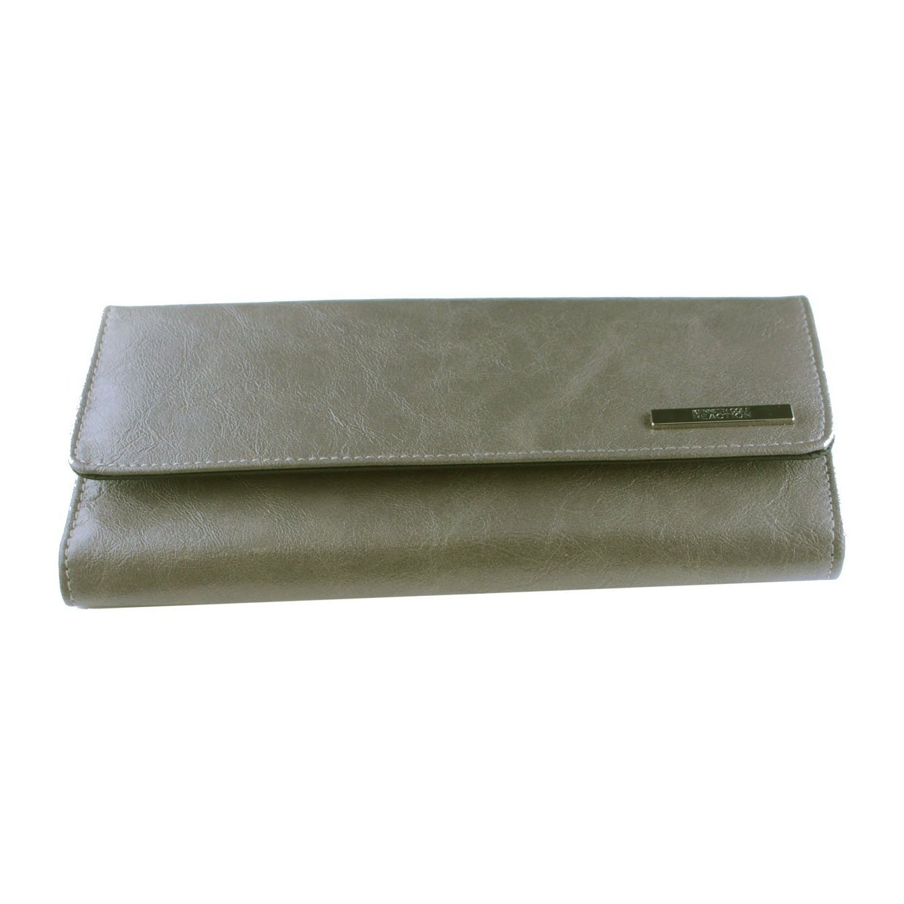 Kenneth Cole Reaction Tri Me A River Trifold Elongated Clutch - Stone