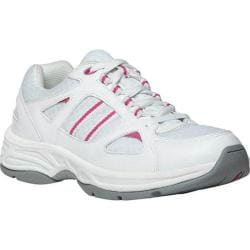 Women's Propet Tasha White/Pink Leather/Mesh