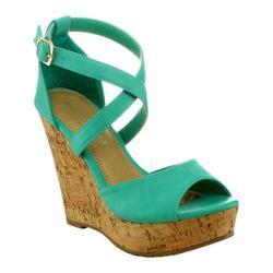 Women's Wild Diva Joan-7 Mint Green Faux Leather