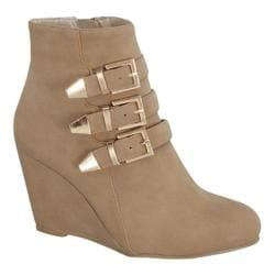 Women's Wild Diva Paola-95 Taupe Faux Leather
