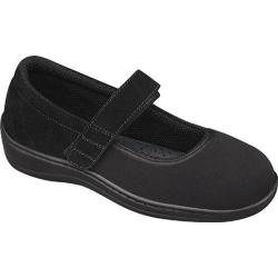 Women's Orthofeet Springfield Black Synthetic Stretch
