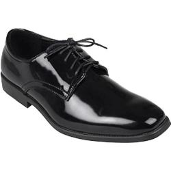 Men's Oxford & Finch Lace-up Tuxedo Shoes Black