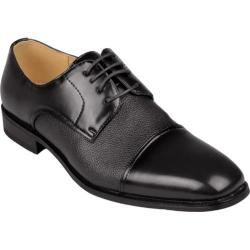 Men's Oxford & Finch Square Toe Lace-up Dress Oxfords Black