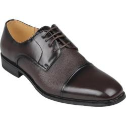 Men's Oxford & Finch Square Toe Lace-up Dress Oxfords Wine