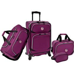 Beverly Hills Country Club San Vincente 4-Piece Luggage Set Purple