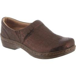 Klogs Mission Brown Croc Print Leather