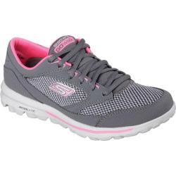 Women's Skechers GOwalk Verve Charcoal/Hot Pink