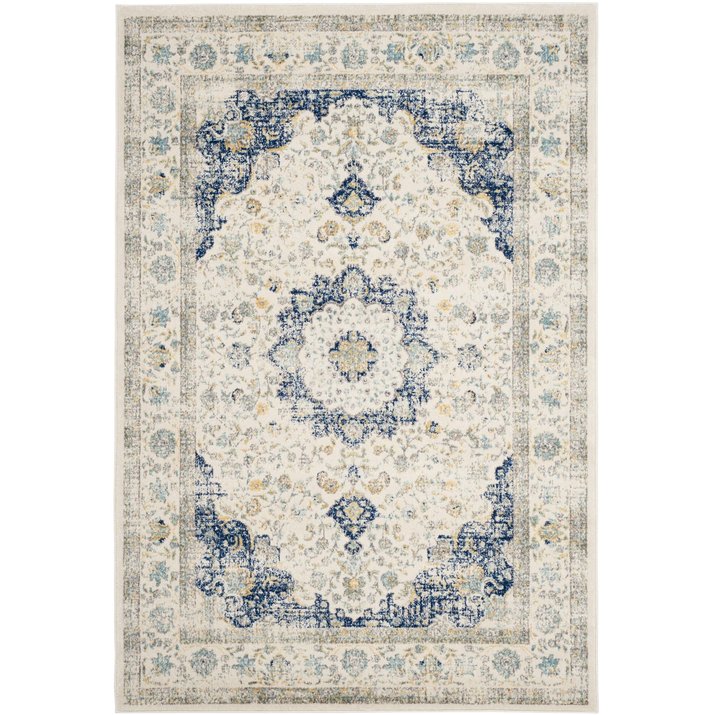 Safavieh Evoke Ivory/ Blue Rug (9' x 12')