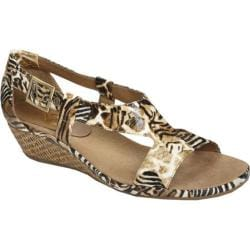 Women's A2 by Aerosoles Crown Chewls Safari Print Faux Leather