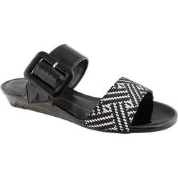 Women's Rose Petals by Walking Cradles Jada Black Patent/Black Chevron Web