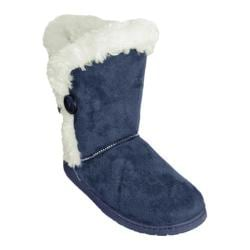 Women's Dawgs 9in 3 Button Microfiber Boots Navy
