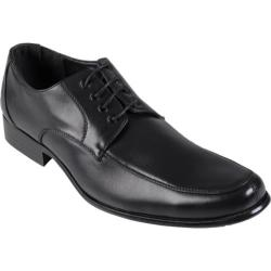 Men's Daxx Topstitched PU Leather Oxfords Black