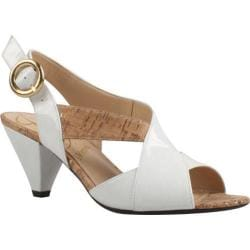 Women's J. Renee Ditte White/Cork/Faux Patent Leather