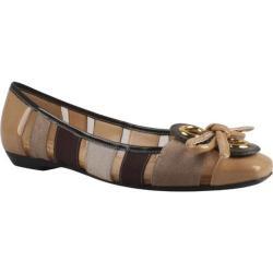 Women's J. Renee Edie Brown Multi Grosgrain/Faux Patent Leather/Mesh