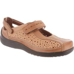 Women's Klogs Via Camel/Driftwood Smooth Leather
