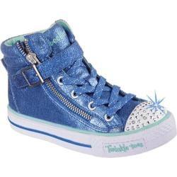 Girls' Skechers Twinkle Toes Shuffles Heart N Sole Royal