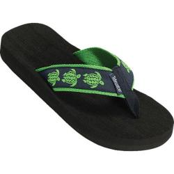 Women's Tidewater Sandals Sea Turtle Navy/Green