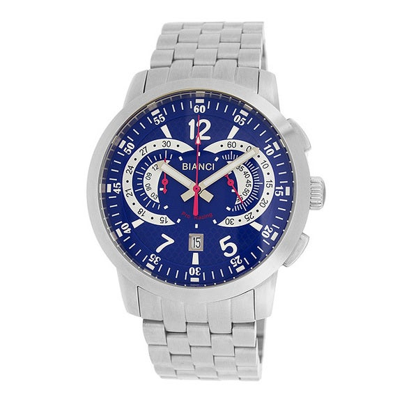 Roberto Bianci Men's Pro Racing Blue Face Chronograph Watch