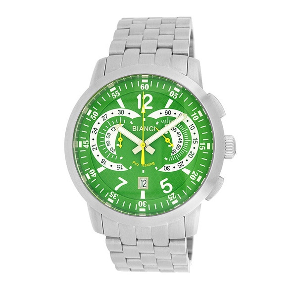 Roberto Bianci Men's Pro Racing Green Face Chronograph Watch