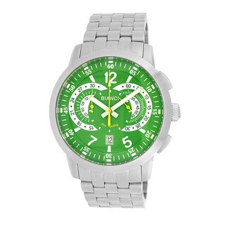 Roberto Bianci Men's Pro Racing Green Face Chronograph Watch