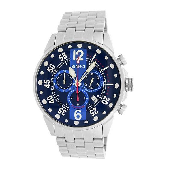 Roberto Bianci Men's Pro Racing Blue Face Chronograph Watch