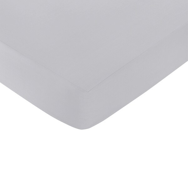 Sweet Jojo Designs Grey Fitted Crib Sheet