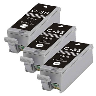 Canon PGI35 (1509B002) Black Compatible Inkjet Cartridge (Remanufactured) (Pack of 3)