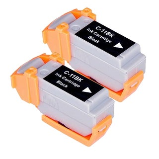 Canon BCI11 (BCI11Bk) Black Compatible Inkjet Cartridge (Remanufactured) (Pack of 2)