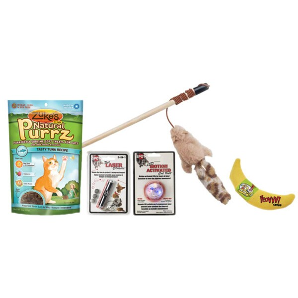 Cat 7-piece Treats 'n Toys Gift Pack