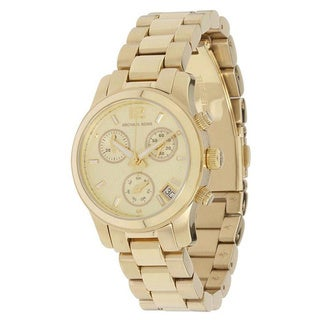 Michael Kors Women's MK5384 'Runway' Mini Gold Stainless Steel Watch