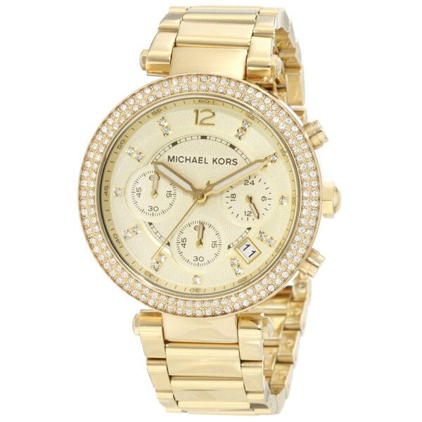 Michael Kors Women's MK5354 'Parker' Yellow Gold Stainless Steel Watch