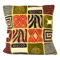 Handmade Batik Cushion Cover - Geo Patches (Zimbabwe)
