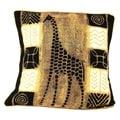 Handmade Giraffe Design Batik Cushion Cover (Zimbabwe)