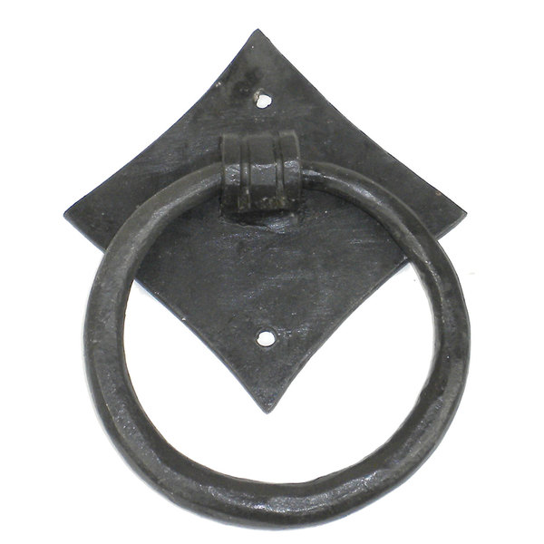 Handmade Iron Diamond and Abstract Ring Knocker (India)