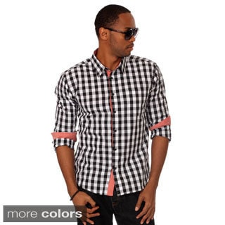 Something Strong Men's Slim Fit Two-tone Plaid Shirt