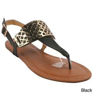 Betani Women's 'Victoria-1' T-strap Flat Sandals