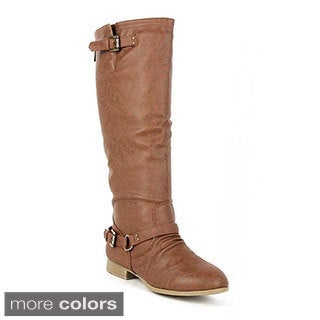 Top Moda Women's 'Coco-1' Knee-high Riding Boots