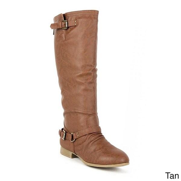 Top Moda Women's 'Coco-1' Knee-high Riding Boots
